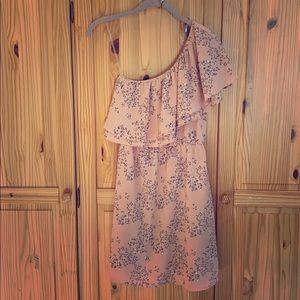 Lush Strapless One Shoulder Dress